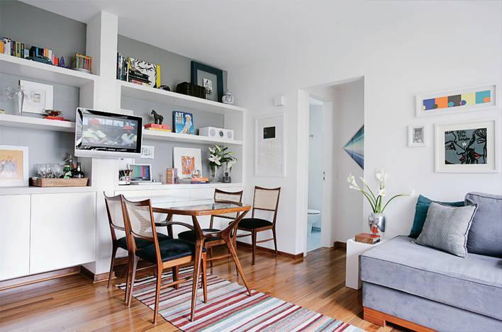 decoracao de ambientes pequenos e integrados:algumas soluções para espaços reduzidos de até 60m2 vamos lá