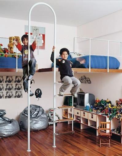 Quarto de brinquedos para as crianças