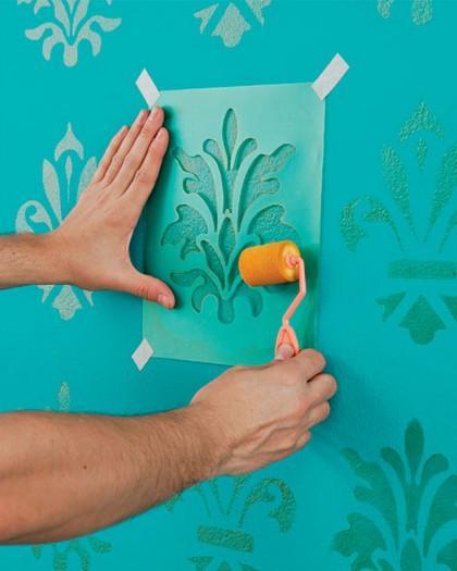 decoracao de interiores simples e barata : decoracao de interiores simples e barata:Que tal pintar a parede? Nuvens, andorinhas (apaixonada né