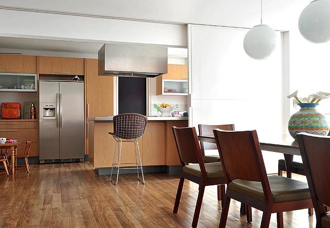 Cozinha e sala de jantar conjugada