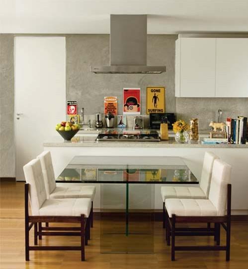 Sala De Jantar E Cozinha Conjugada ~  de Madeira, da Linha Puerto  moderno e funcional, além de combinar