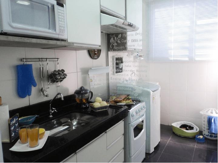 decoracao cozinha e area de servico integradas:Decorado Parque Rio Corais – São José do Rio Preto, SP -