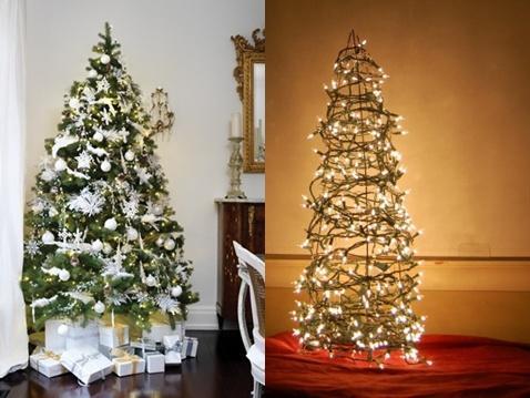 Árvores de Natal: Tradicional x Moderninha