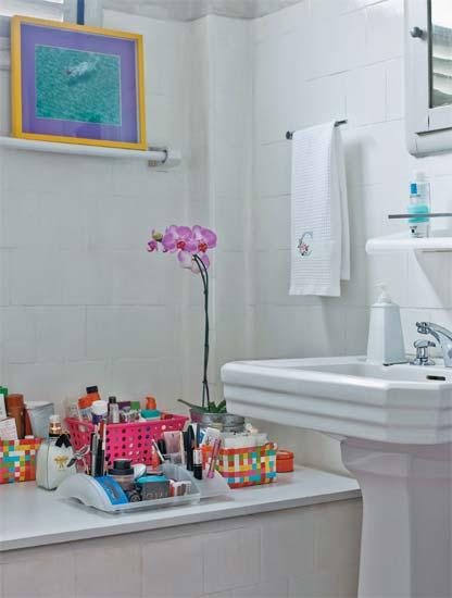 Novas ideias para decorar apês alugados -> Decoracao Banheiro Apartamento Alugado