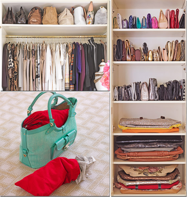 Como organizar as bolsas em casa - Guardar bolsos en armario ...
