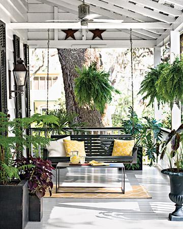 Plantas para sua varanda for Small porch swing ideas