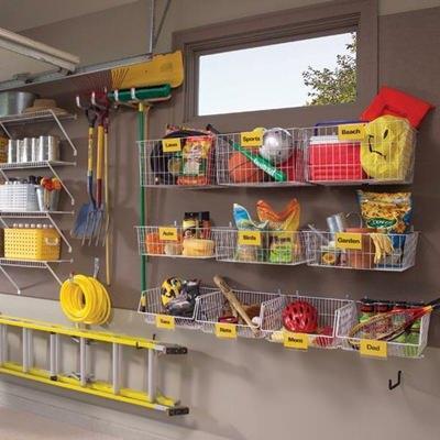 Como organizar a garagem for Garage con deposito