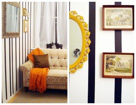 Decorando as paredes de um apartamento alugado