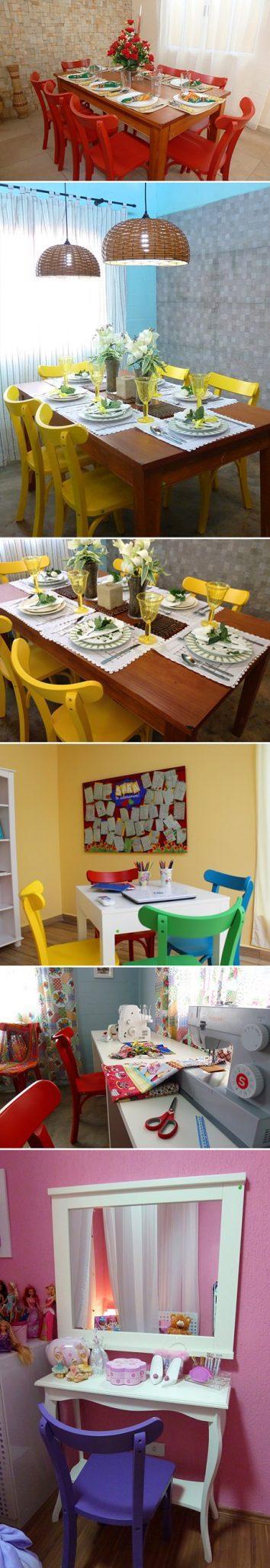 Dica de Decoração: Cadeiras Coloridas