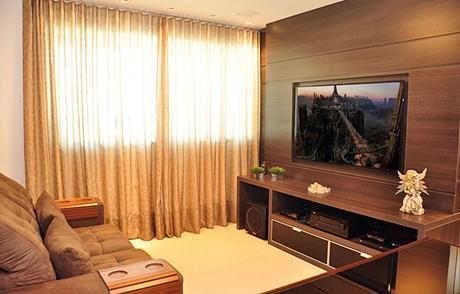 Como integrar a TV à decoração