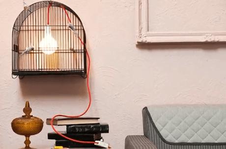 luminaria de gaiola