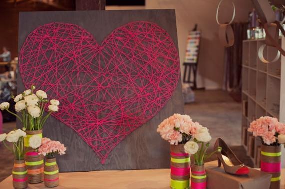 Colorindo com fios de lã
