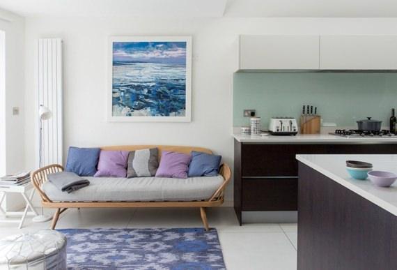 Um lar inglês bonito e confortável