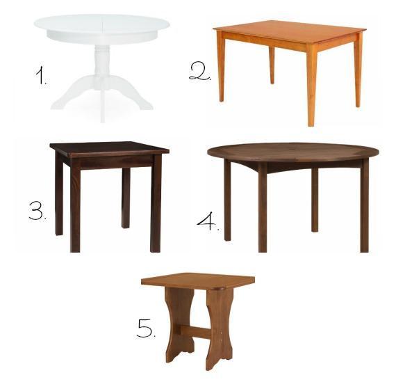 Mesa quadrada ou mesa redonda for Mesas para ordenador pequenas