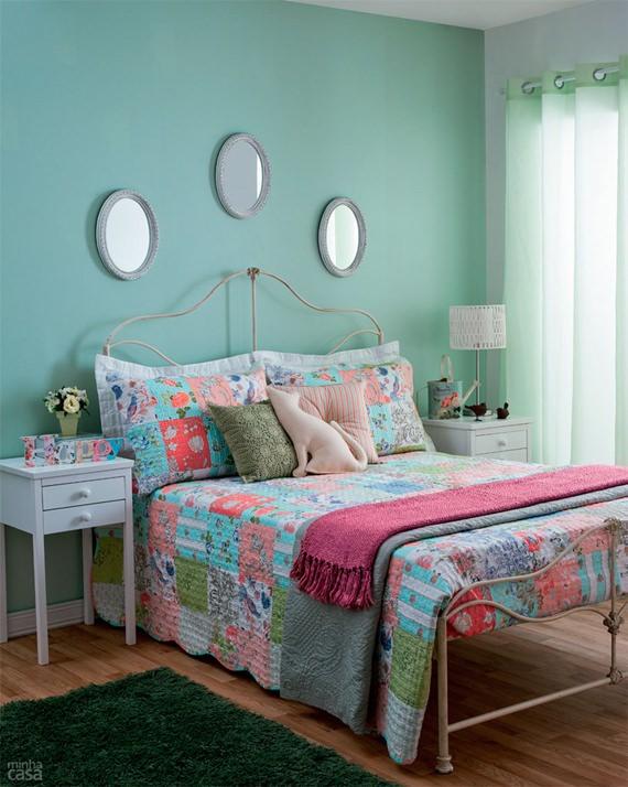 Dicas para um quarto mais charmosinho ~ Quarto Rosa E Azul Tiffany