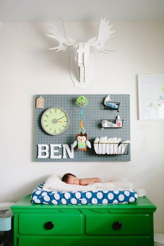 pegboard in the nursery_mini