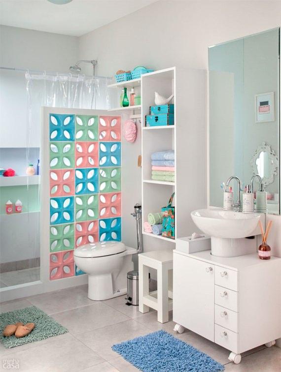 Como decorar banheiros pequenos # Ideias Para Armario De Banheiro