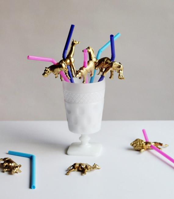 diy gold animal straws_mini