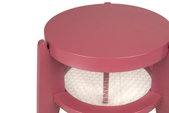 Banquinho cor de rosa