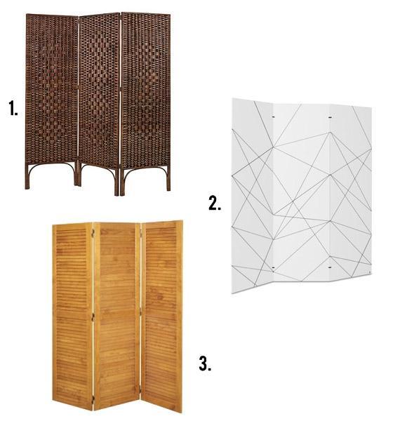 diferentes modelos de biombos da meu móvel de madeira