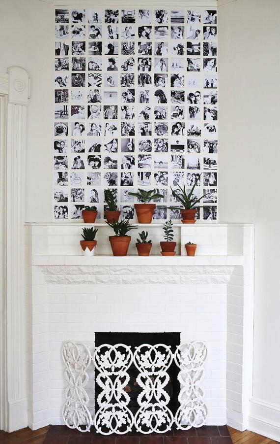 Decore a sua lareira com fotos!