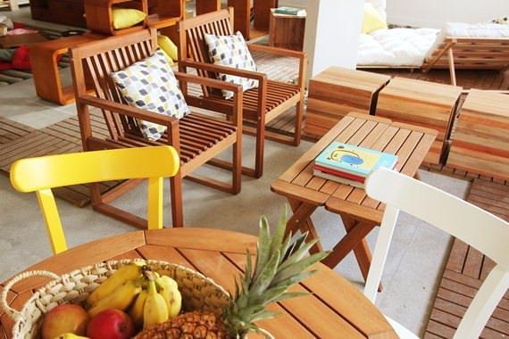 móveis confortáveis para a varanda, o jardim e o terraço