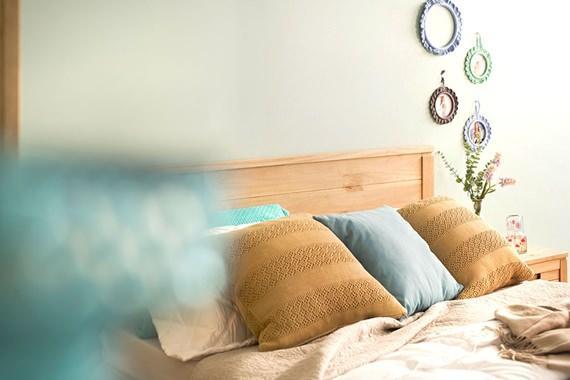 Acessórios artesanais na decoração do quarto