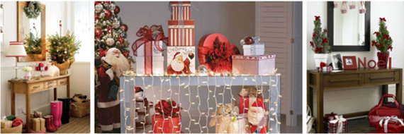 Decore seu aparador com lindos enfeites natalinos