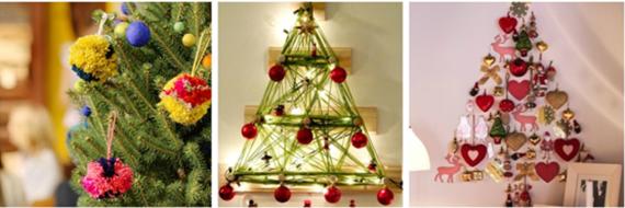 Opções criativas e modernas para fazer a Árvore de Natal