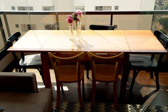 Mesa extensível para a sala de jantar