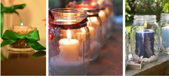 Potes de conserva podem dar um efeito incrível na sua decoração de Natal!