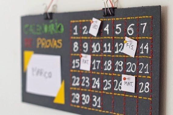 Calendário DIY