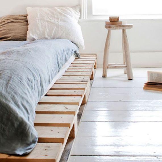 Cama feita de futon