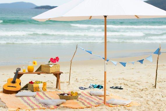 Piquenique na praia