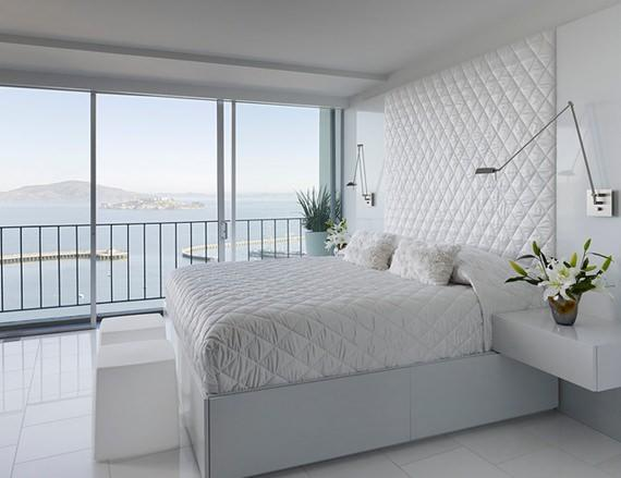 all white modern bedroom o que usar aos p 233 s da cama 14001