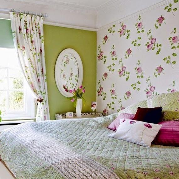 Quarto decorado com parede com tecido aplicado