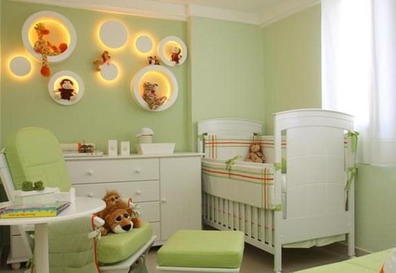 Iluminação de LED no quarto do bebê
