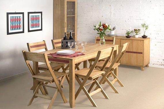Sala de jantar para seis lugares