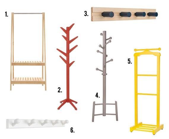 Cabideiros de madeira