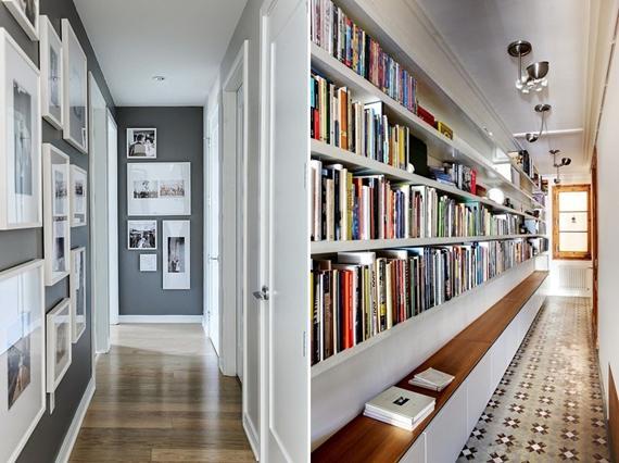 Exemplos de formas de decorar o corredor