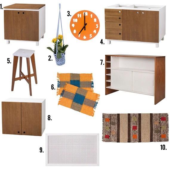 Móveis de madeira para cozinha integrada