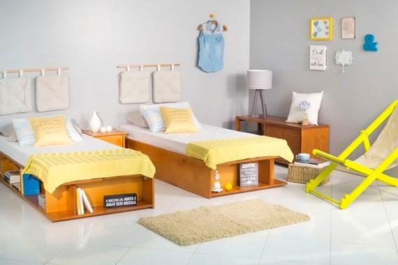Quarto de visitas com cama de solteiro