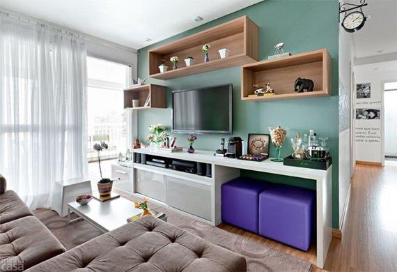Inspiração de cores para a sala de estar