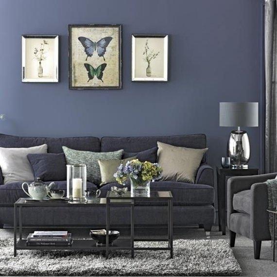 Sala De Estar En Azul ~ Inspiração de cores para a sala de estar