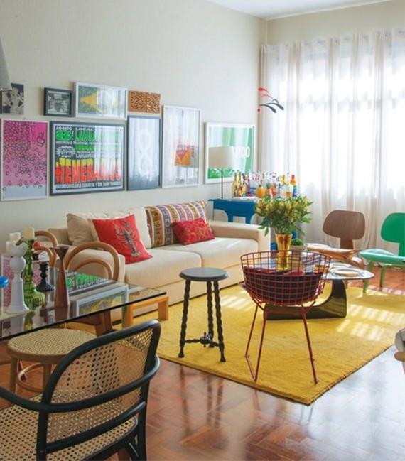 Sala De Estar Cor De Rosa ~ Inspiração de cores para a sala de estar