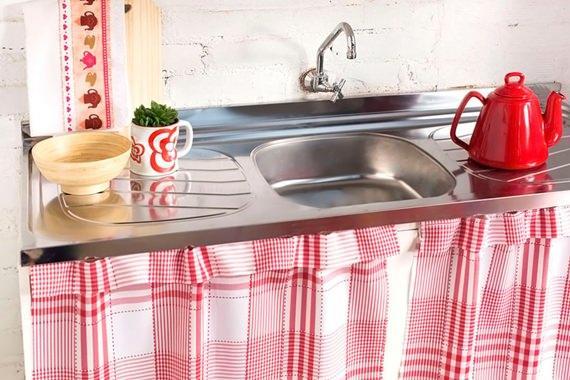 Cortina para armário de cozinha