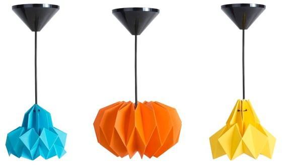 Luminárias origami
