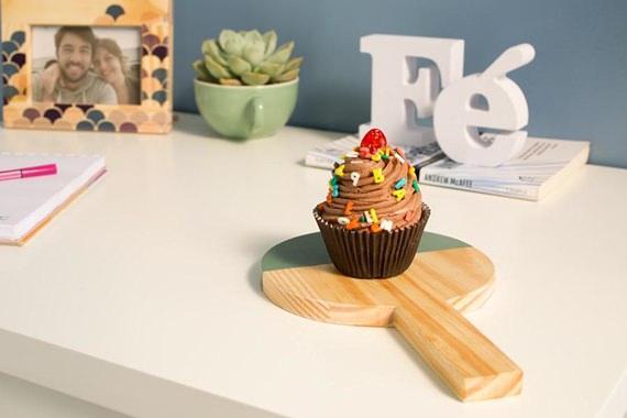 Mini Tábua Cookie com Cupcake