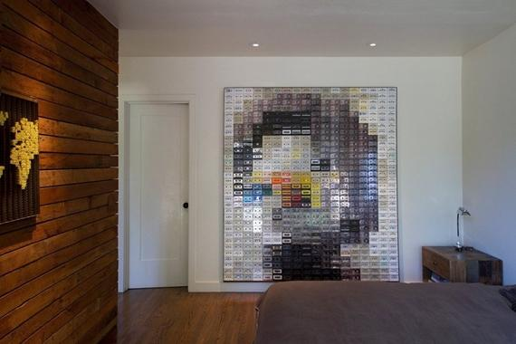 Mural com fitas VHS