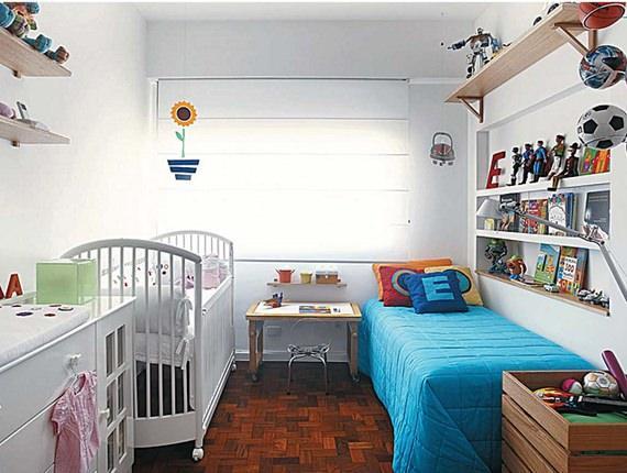 Organização no quarto das crianças